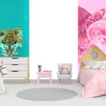 and pink bedroom
