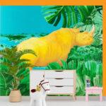 rhino orange bedroom